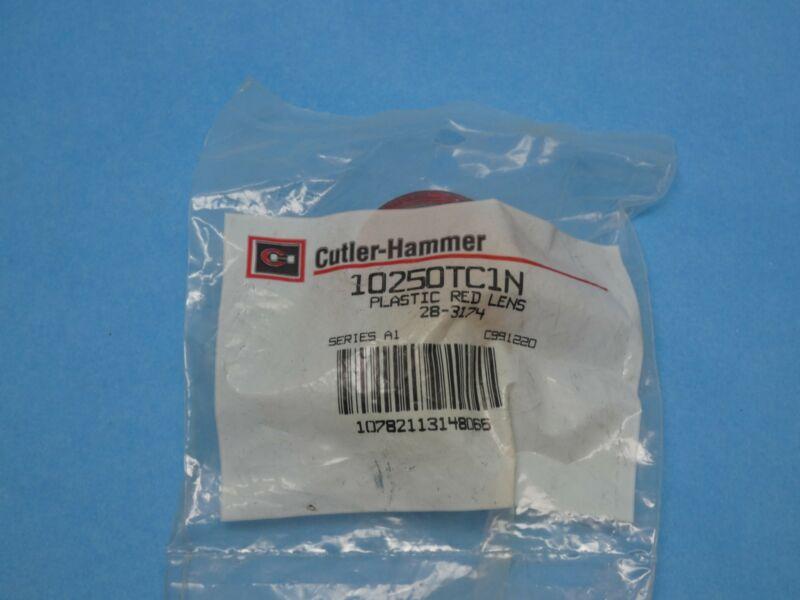 Cutler Hammer 10250TC1N Pilot Light Push Button Lens Red Plastic New