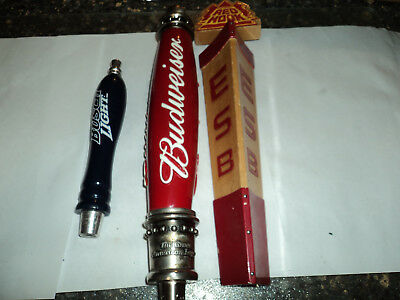 Budweiser Bush Light and EBS Beer tap handles