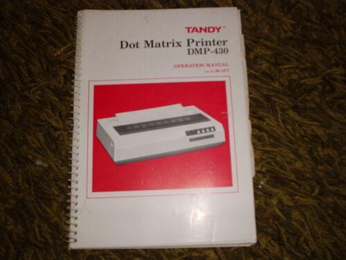OWNERS MANUAL TANDY DMP-430 PRINTER