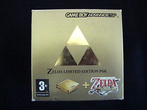 Nintendo Game Boy Advance SP Zelda Limited Edition Pak Gold Handheld BNIB.