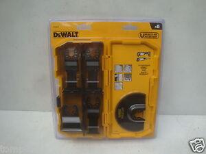 dewalt dt20715 5pce set in tough case for oscillating multi tools ebay. Black Bedroom Furniture Sets. Home Design Ideas