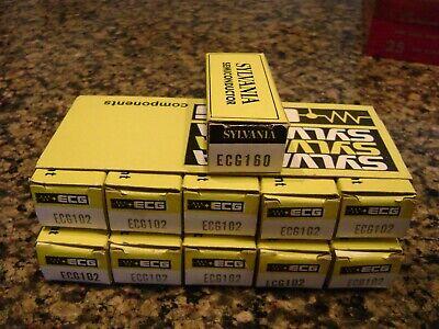 Nos Vintage Lot Of 12 Sylvania Ecg Transistor Components Ecg102 Ecg160