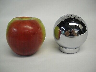 CHASE CHROME BALL SHAKER-LARGE SIZE-STAR PERFORATIONS-RUSSEL WRIGHT DESIGN-VG
