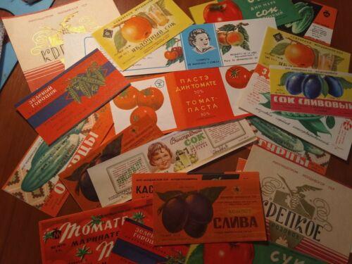 21 vintage soviet food labels