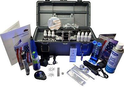 Windshield Repair kit  Auto Glass Repair System (MASTER KIT with Delta UV Lamp)