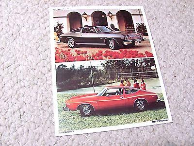 1975 AMC MATADOR COUPE POSTCARD...