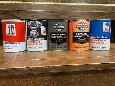 Harley Davidson Genuine Motor Cycle Oil Can Set Full