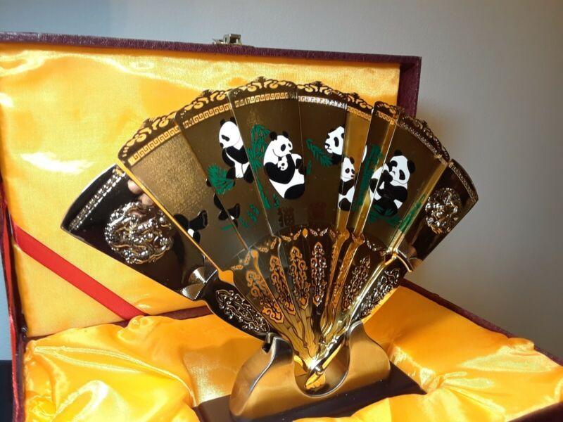 Vintage Panda Fan