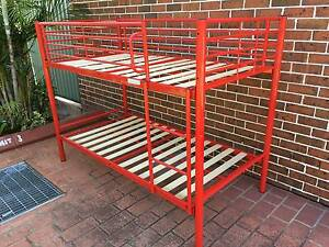 Red Bunk Bed Single Frame Chester Hill Bankstown Area Preview