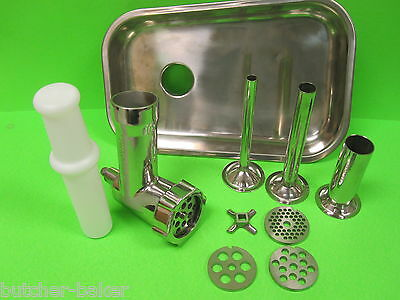 STAINLESS STEEL Metal Meat Grinder Food Chopper Attachment for Kitchenaid Mixer