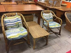 Vintage rattan/wicker set