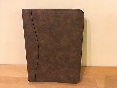 Day-timer Brown Distressed Simulated Leather Desk Size Day Planner - 43184