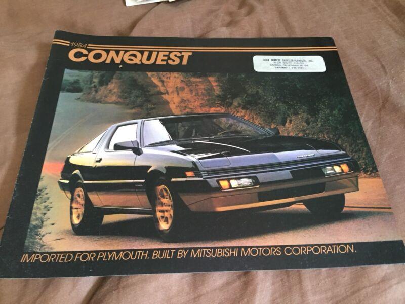 1984 Plymouth Conquest by Mitsubishi USA Market Brochure Catalog Prospekt