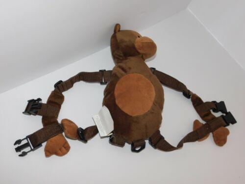 Child Harness Monkey Plush Brown Cute Gold Bug Missing Leash