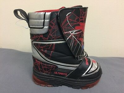 Marvel Comics SpiderMan Light-up Toddler Winter Boots size