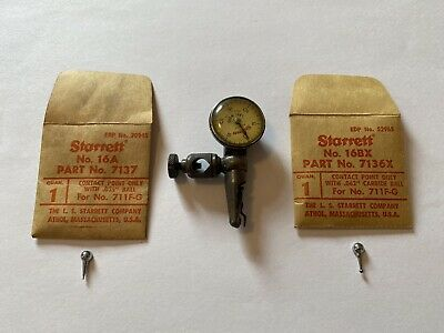 Starrett 711-f Last Word Dial Indicator 16a .035 16bx .062 Ball Contact Points