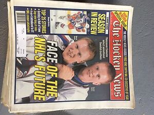 The Hockey News from 1997-1999 and Beckett magazines