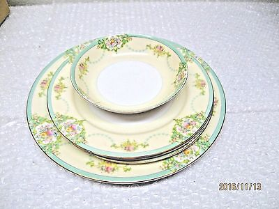5 PIECE BEAUTIFUL MEITO CHINA HAND PAINTED DISHES. MADE IN JAPAN