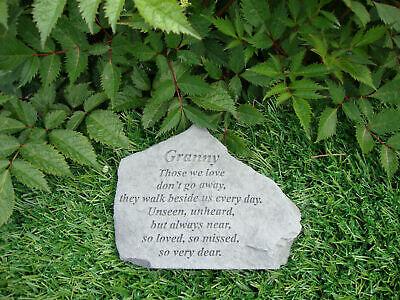 Granny Memorial Garden Stone Plaque Grave Marker Ornament churchyard