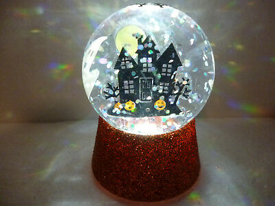Hallmark Gift Bag Halloween Haunted House Lighted Snow Globe FREE Ship NEW
