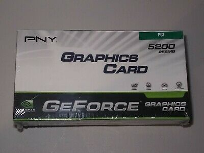 New PNY NVIDIA GeForce FX 5200 VCGFX522PEB 256MB DDR SDRAM PCI Graphics Adapter Geforce Fx5200 256mb