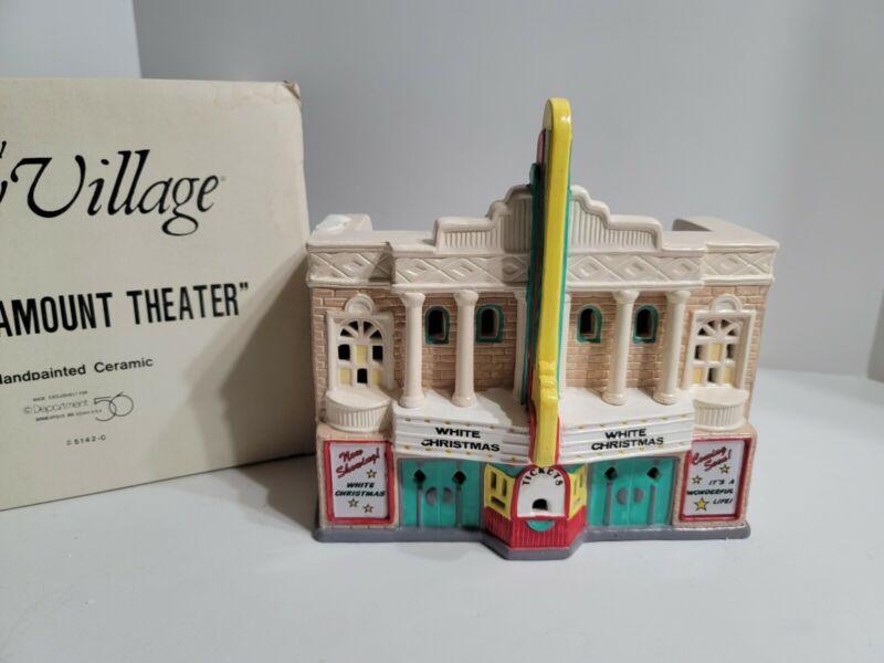 Department Dept 56 Snow Village 1989 Paramount Theater Christmas Village