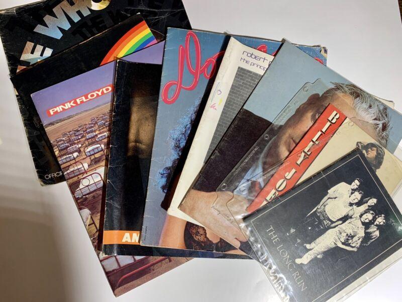 Lot Of 8 VTG Concert Program 1975 To 1987 The Who Eagles Donna Summer Pink Floyd