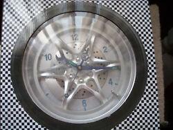 14 Car Rubber Tire Wall Clock Tire Rally Wheel Muscle Rim Auto Racing Garage