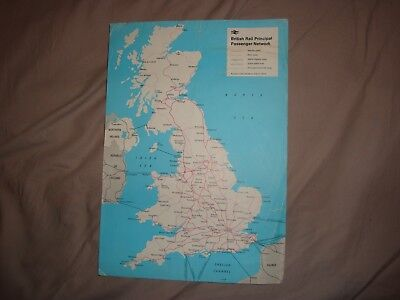 British rail A4 size map