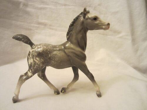 Breyer Molding Co Gray Grey White Plastic Standing Foal Horse Pony Animal 7x7
