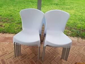 White Plastic Chairs Mundaring Mundaring Area Preview