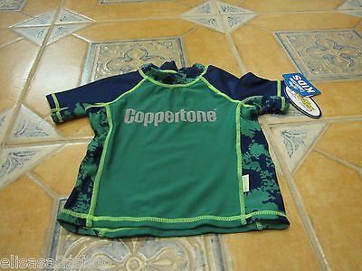 Jungen Rash Guard Shirt (Jungen Jugend Coppertone 4 Schwimmen Rash Guard Shirt Grün Neu Erstklassig)