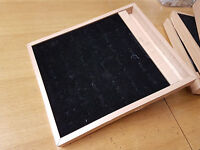 3x Wooden Ring Jewellery Display Storage Box Tray Show Case Organiser Holder - igorbella - ebay.co.uk