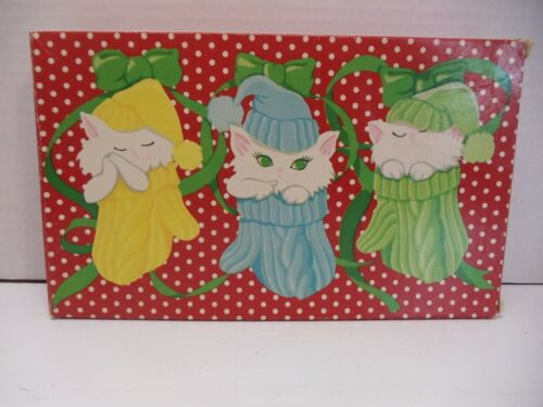 """Vintage Avon Soap """"Furry, Purry And Scurry"""" Kittens Cats Kid Set of 3 Soaps"""