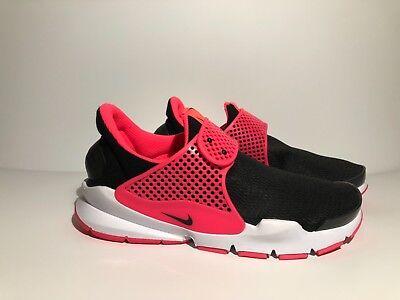 GS Running Shoes Black Racer Pink 904277-002 Nike Kids Girls Sock Dart