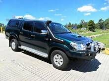 2009 Toyota Hilux SR5 TURBO DIESEL DUAL CAB AUTOMATIC GREEN Ute Lansvale Liverpool Area Preview