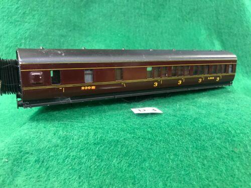 #32 Exley 00 scale coach LMS 3rd class /Brake coach VG  needs running gear