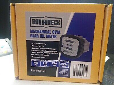 Roughneck Mechanical Oval Gear Oil Meter 67150 - 1000psi - 1-32qpm Hr