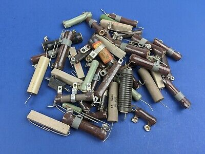 Lot Of 44 Assorted 10k Ohm Ceramic Power Resistors Sprague Ohmite Others