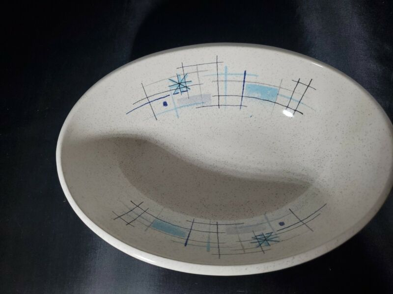 "Franciscan Dinnerware  OASIS  Atomic Star MCM 8 3/8"" Oval Vegetable Bowl"