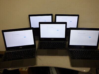 "Acer Chromebook 11 C720-2844 11.6"" 4GB 16GB SSD   Lot of 5"