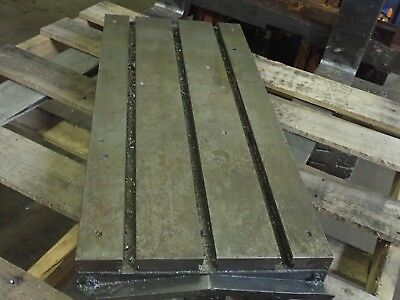 35.5 X 16.25 X 3.5 Steel T Slot Table Cast Iron Layout Weld Fixture3 Slot