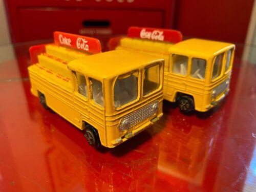 Coca Cola 1970s Die-Cast Metal & Plastic Toy Trucks Maxwell Co India 2 Versions