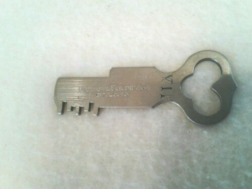 Antique PAULY JAIL BUILDING CO ST LOUIS Jail Key lock