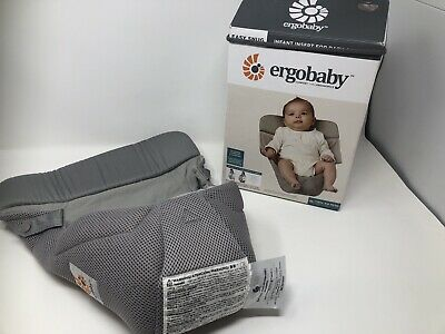 Ergo Baby Easy Snug Infant Insert For Baby Carrier -Cool Air Mesh Grey Brand new