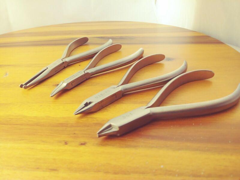 4 Pliers Set of ORTHOPLI CORP DENTAL SURGICAL 6D 011/6F 083-G/6E 064/6E 034-XC