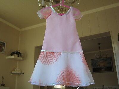 Mädchenkleid für kleine Prinzessinen Rosa Taft und Pailletten (Rosa Kleider Für Kleine Mädchen)