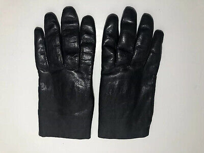 Vintage Dark Brown Leather Gloves Rabbit Fur Lined Italian Style Women's Small 6 Dark Brown Italian Leather Gloves