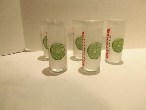 BEEFEATER GIN THE SUMMER GIN (LIME) TUMBLER GLASSES (SET OF 5)VERY RARE- DESIGN