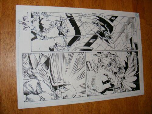 Detective Comics #644 Pg 2 Tom Lyle Scott Hanna Full Action Batman Pg Signed Tom